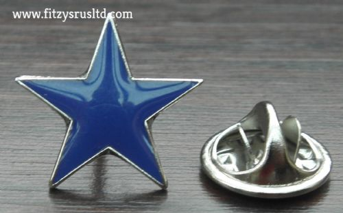 Blue Star Lapel Pin Badge Five-pointed Pentagram Brooch